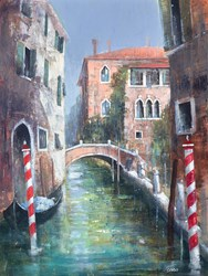 Un Giorno A Venezia by Paolo Fedeli - Original Painting on Stretched Canvas sized 18x24 inches. Available from Whitewall Galleries
